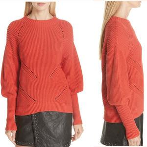 NWT JOIE Landyn Blouson Sleeve Sweater